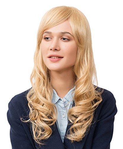 La Vogue Perruque Longue Cosplay Bouclé Ondulé Femme Cheveux Vrai Humain Cosplay