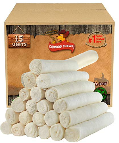 Cowdog Chews Retriever roll 9-10 inch (15 Pack) All Natural Rawhide Product