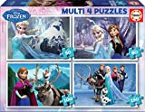 Educa - Multi 4 Puzzles Junior, puzzle infantil Frozen de 50,80,100 y 150 piezas, a partir de 5 años (16173)