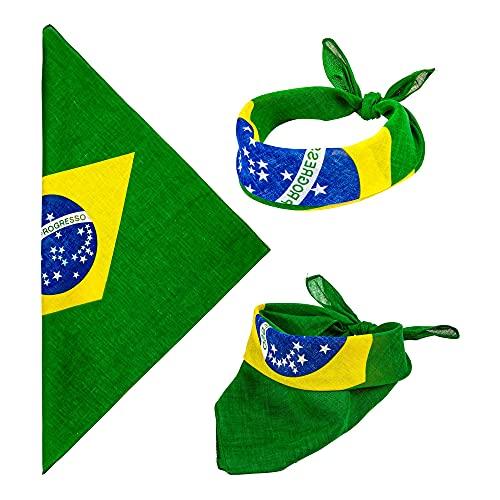 Widmann 1041B Bandana Kopftuch Brasilien, Mehrfarbig, One Size