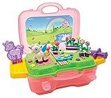 Simba und Fun Knetset Einhorn im Koffer / Plattform zum Bespielen / 4x30g Knete / 15 Teile / Einhornform / Für Kinder ab 3 Jahren
