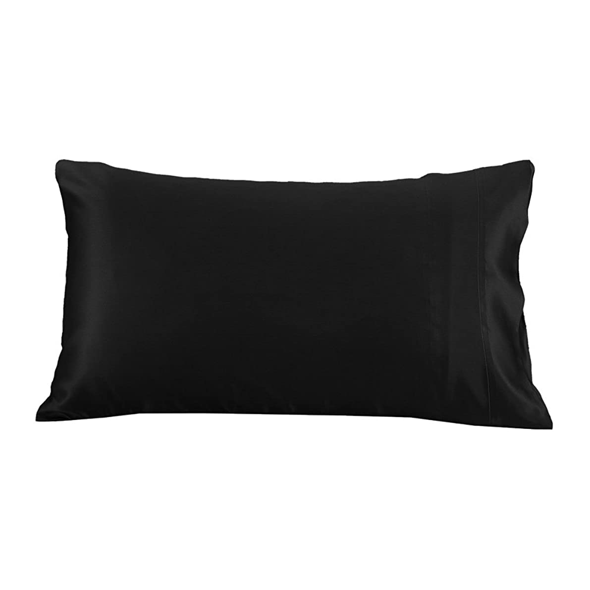 LilySilk Mulberry Silk Pillowcase pure Mulberry 19 Momme Terse For Hair & Skin Charmeuse Hypoallergenic, Black, Queen(20X33 Inch), Queen