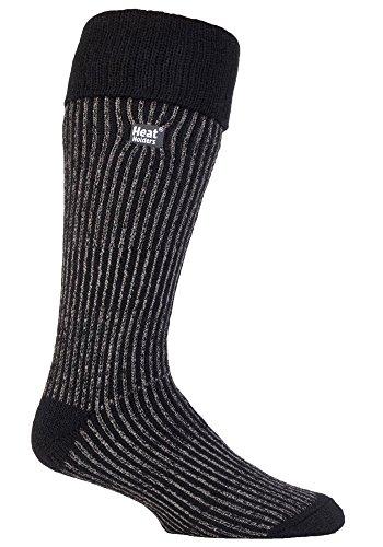 Heat Holders - Para hombre Calcetines de invierno de arranque térmica en 3 colores 6-11 Reino Unido 39-45 eur (Negro)