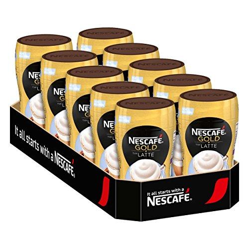 Nescafé Gold Typ Latte, Löslicher Bohnenkaffee, Instantkaffee, Kaffee, Dose, 10 x 250 g, 12311737