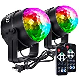 Sound Activated Disco Ball Party Lights, Portable RGB Disco Lights, LED Strobe Lights