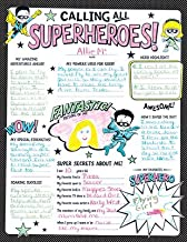 Renewing Minds Superheroes Calling All Superheroes! All About Me Poster Set, 17 x 22 inches, Black and White, Pack of 30 Posters
