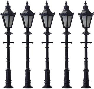YUFENGJIAO 10pcs Model Railway Lamppost LED Park Lanterns Street Lamp Model Making Railway HO/OO 6.5cm