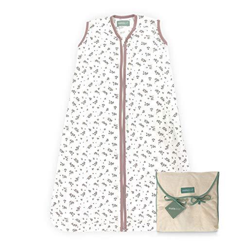 molis&co. Baby-Schlafsack. 0.5 TOG. Größe: 70 cm (0-6 Monate). Ideal für den Sommer. Bloom Pink. 100% bilogischem Baumwolle (GOTS).