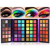 Professional Highly Pigmented Eyeshadow Palette 72 Colors Ultra Secret Makeup Palette Set Matte Glitter Shimmer Nudes Bright Vibrant Colors Shades Long Lasting Waterproof Eye Shadow