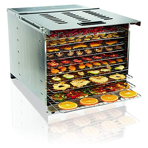 Proctor Silex Commercial 78450 Food Dehydrator, 10 Trays, 1200 Watts, Digital Timer and Controls, Stainless Steel, NSF Approved