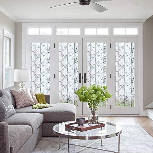 LMKJ Película Adhesiva electrostática protección de privacidad Aislamiento térmico decoración de Oficina en casa extraíble película de Vidrio autoadhesiva A59 60x200cm