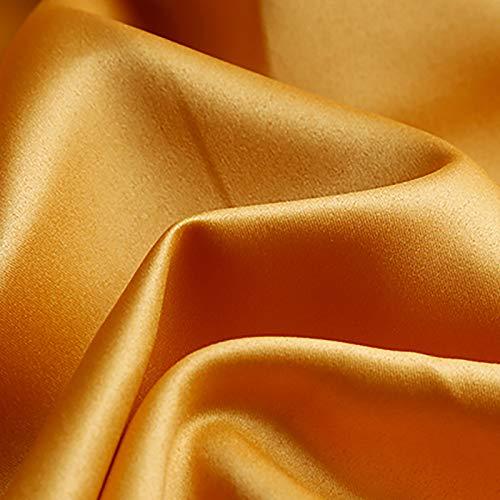 MUYUNXI Tela De Raso Forro De Tela para Vestidos De Novias Fundas Artesanías Vestidos Blusas Ropa Interior 150 Cm De Ancho Vendido por 2 Metro(Color:Dorado)