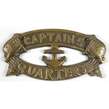 1 X CAPTAINS QUARTERS Nautical Plaque