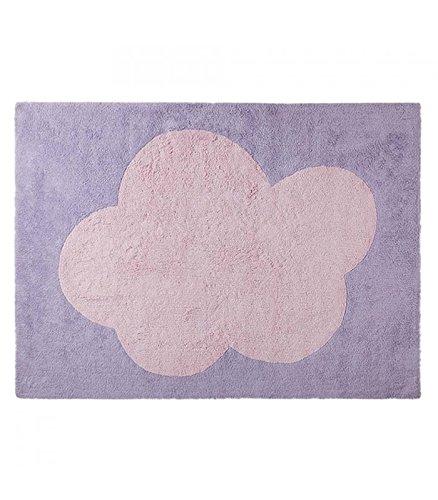 Happy Décor enfants Tapis lavable (120 x 160 cm, Violet/rose, Big Cloud)