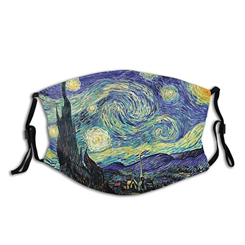 Tounuta Unisex Adult Sport Face Cover Starry Night Reusable Face Cover Men Women Sports Cycling Camping Travel (Colorful-1)