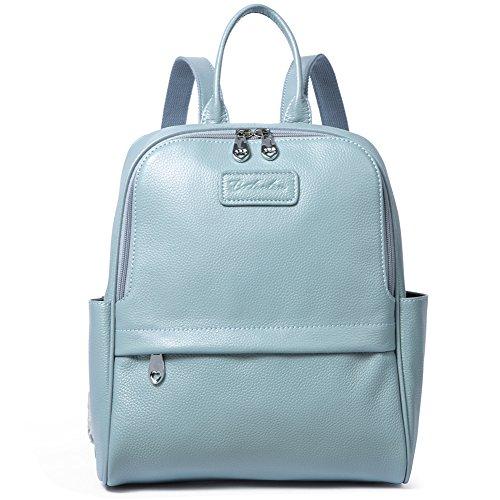 BOSTANTEN Women Genuine Leather Backpack Rucksack Ladies Casual Daypacks Shoulder Bag Purse School Satchel for College Large