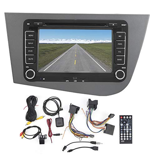 Deror Car Navigator 7in 2Din Navigator GPS CD DVD Bluetooth Reproductor Multimedia Apto para Seat Leon 2 MK2 2005-2011 LHD
