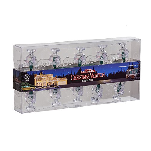 National Lampoon's Christmas Vacation Kurt Adler UL 10-Light Wally World Moose Mug Light Set
