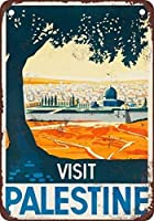 パレスチナを訪問、ブリキのサインヴィンテージ面白い生き物鉄の絵画金属板ノベルティ