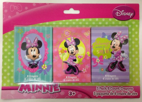 Minnie Mouse 3-pack, 8-count Crayons
