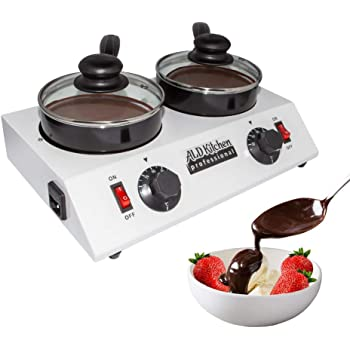 ALDKitchen Chocolate Melting Pot | Professional Chocolate Tempering Machine with Manual Control | Heated Chocolate | 110V | (Double (2.4 kg)