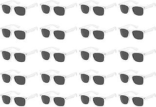 20 حزمة بالجملة الكبار ألوان نيون 80 نمط الرجعية مربع حزب تفضل النظارات الشمسية