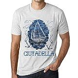 One in the City Hombre Camiseta Vintage T-Shirt Gráfico Ship Me To CIUTADELLA Blanco Moteado