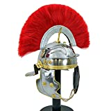 MEDIEVALCRAFTS New Roman Imperial Gallic Centurion Helmet Armour Red Crest Plume with exp Ship.