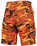 Rothco Tactical BDU (Battle Dress Uniform) Military Cargo Shorts, 2XL, Savage Orange Camo