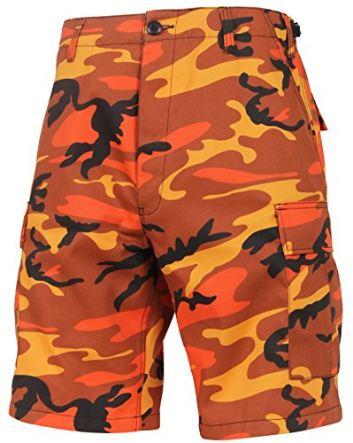 Rothco Tactical BDU (Battle Dress Uniform) Military Cargo Shorts, Savage Orange Camo, S