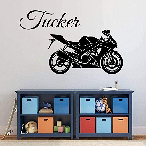 Wall Stickers,Design Your own Wall Decal Family,murals Bedroom,Motorbike for Home and Motor Garage Decoration Removable 57X45cm
