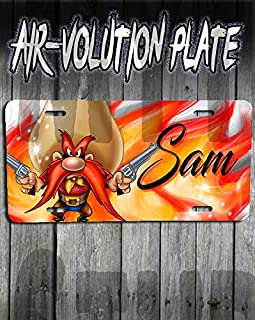 Personalized Yosemite Sam License Plate Tag