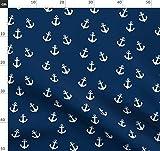 Maritim, Marineblau, Ozean, Schiff, Pirat, Sommer Stoffe -