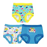 TEN28 by Handcraft Boys Baby Shark 3pk Potty Training Pant Baby and Toddler Potty Training Underwear