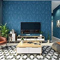 壁紙現代のシンプルなソリッドカラースタイルブルー壁紙ロールサイドウォールペーパーホームデコレーションクリスマスの飾り10メートルのx 0.53メートル