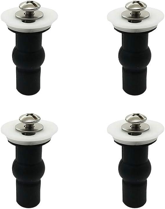 Victool WC Cubierta de Tornillo Tornillos de Cierre Universal WC Pernos Conjunto de reemplazo Asientos de ba/ño Accesorios de Piezas met/álicas Kit