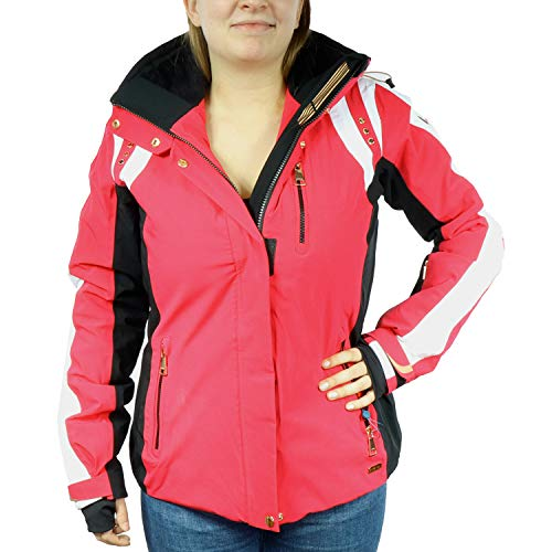 LUHTA dames winter jas Betha roze wit 232431392L