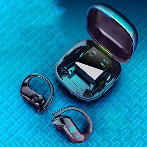 Fone de ouvido QUANXI MD03-TWS sem fio com controle de toque Bluetooth 5.0, fones de ouvido estéreo 9D TWS com 10 horas de música, jogos e tempo de conversação, adequado para esportes, jogos,Preto
