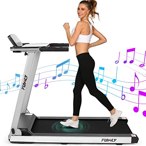 FUNMILY Treadmill, 2.25HP Folding Treadmills for Home with Table & Bluetooth Speaker & Large LCD Monitor, Zero Installation Walking Jogging Machine for Home/Office Use (Black)