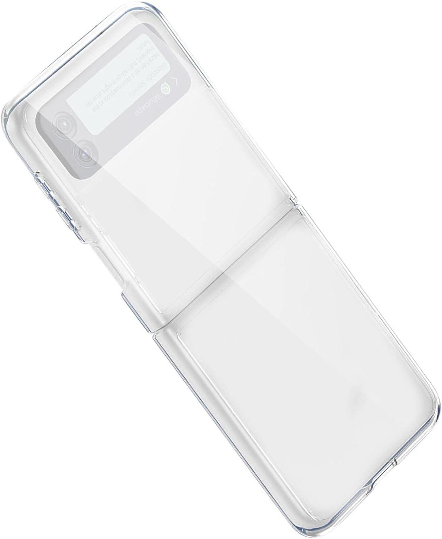 Phone Case for Galaxy Z Flip 3 5G - Foldable Premium Thin Transparent Hard PC Slim Durable Protective Phone Case Cover for Samsung Galaxy Z Flip 3 5G 2021