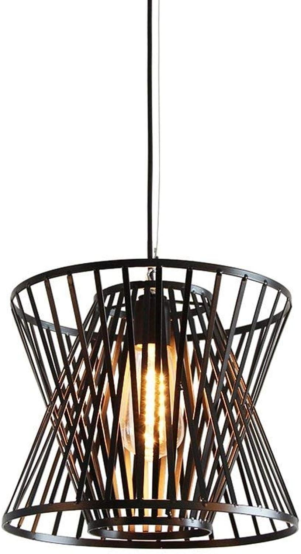 Rétro fer forgé Cage Lustre Lampe suspension personnalité créative restaurant Lustre Store VêteHommests Chambre suspendu au plafond E27