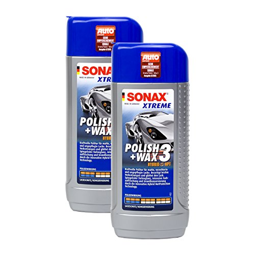 SONAX 2X 02021000 Xtreme Polish+Wax 3 Hybrid NPT Politur Wachs 250ml
