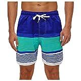 Pantalones Cortos Hombre Deporte SHOBDW 3D Impresión Verano Pantalones Cortos De Playa 2021 Nuevo Casual Pantalones Hombre Chandal Cordón Elástico Cortos Aptitud Tallas Grandes (Sky Blue, L)