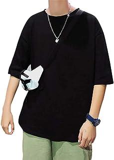 [セカンドルーツ] メンズ 半袖 Tシャツ シンプル t シャツ ラウンドカット カジュアル M~2XL