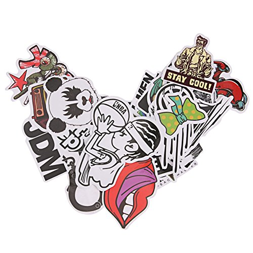NELNISSA 25 Stks Doodle DIY Sticker Skateboard Graffiti Sticker Speelgoed Laptop Fiets