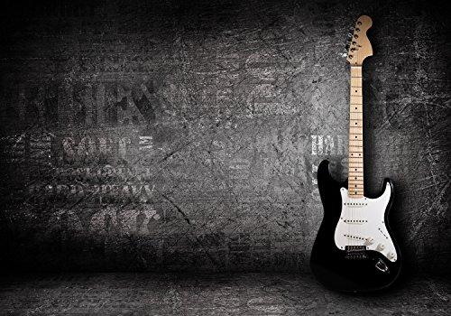 wandmotiv24 Fototapete E-Gitarre, XL 350 x 245 cm - 7 Teile, Fototapeten, Wandbild, Motivtapeten, Vlies-Tapeten, Musik, Rock, Metal, Grunge M0466