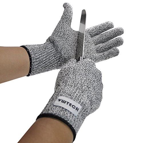 VWTECH resistente a los cortes guantes, de calidad alimentaria nivel seguro 5