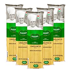 ✔ 100% AUTHENTIC ITALIAN PASTA – Our Baronia Linguine pasta is 100% Durum wheat semolina milled in our own mill, giving all the guarantees that our pasta is produced with exclusively 100% high quality Italian wheat. ✔ EASY TO USE – Our Linguine pasta...