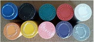 400 Roulette/Poker Chips 8 Gram Diamond Edge Choice of 10 Colors