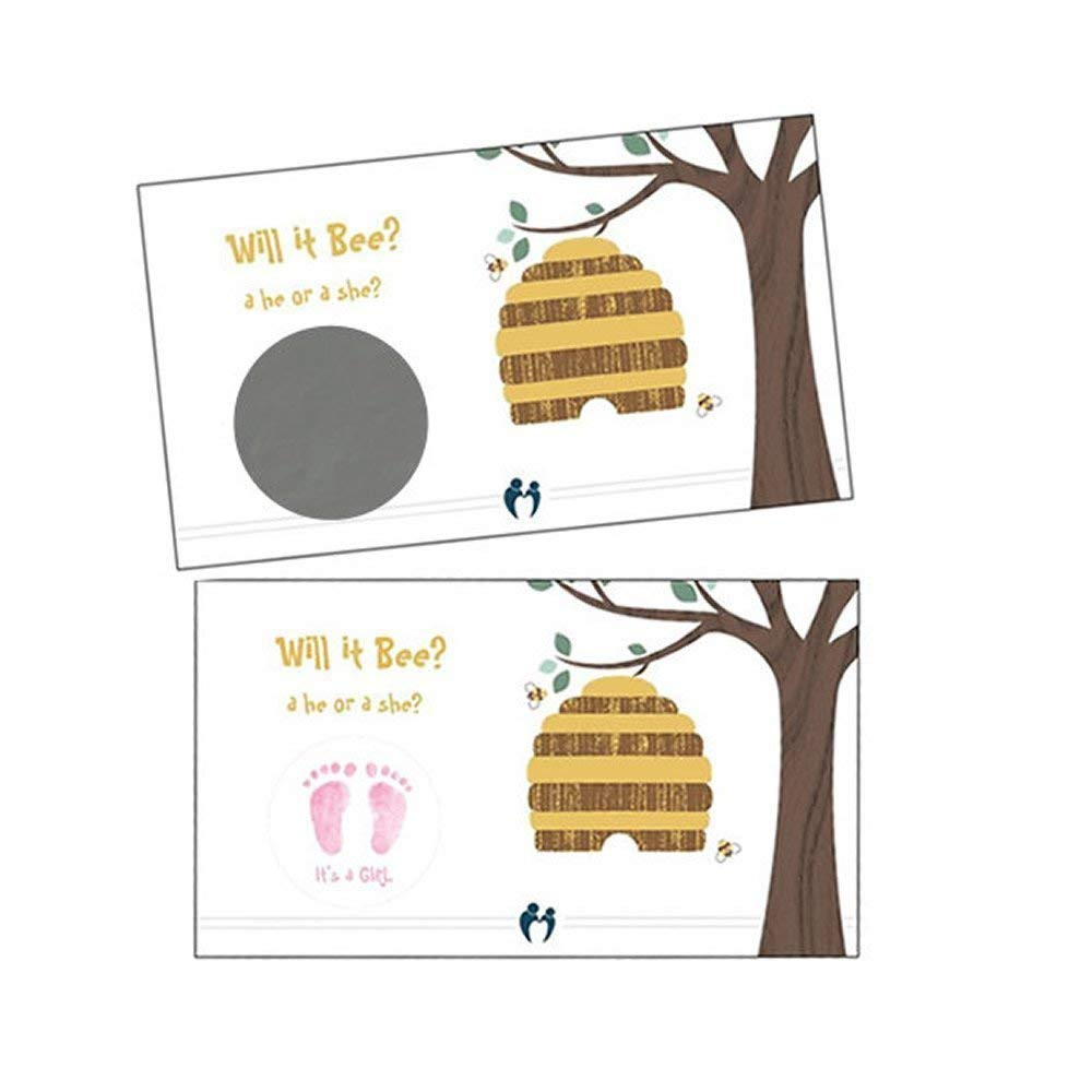 Gender Reveal Scratch Off Quantity limited Cards qty Boy OR OFFer 24 Girl